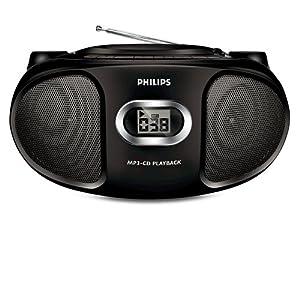 Philips AZ-302/98 MP3 CD Player (Black)