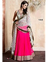 Designer Georgette Pink Embroidered Lehenga Choli