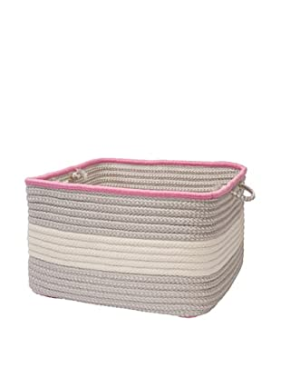 Colonial Mills Color Block Square Basket, (Shadow Pink)