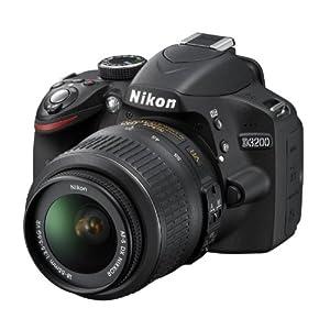 Nikon D3200 24.2MP Digital SLR Camera (Black) with AF-S 18-55mm VR II Kit and AF-S NIKKOR 50mm f/1.8G Twin Lens 8GB Card, Camera Bag