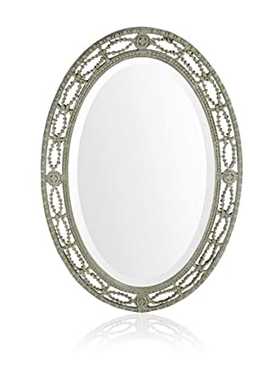 Uttermost Candela Oval Mirror, Silver