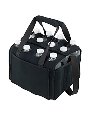 Picnic Time Twelve Pack Insulated Beverage Tote (Black)