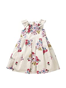 Simonetta Girl's Bouquet Party Dress (Beige)