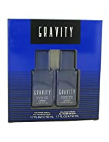 Gravity Cologne By Coty Gift Set Two 1.7 Oz Cologne Sprays For Men