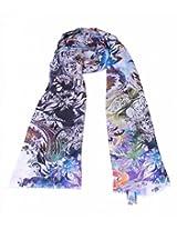 Multicolor printed cashmere stole