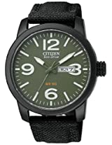Citizen Eco-Drive Analog Green Dial Men's Watch BM8475-00X