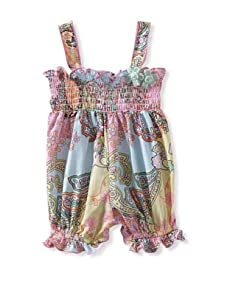 Baby Nay Smocking Balloon Romper (Candy Lane)