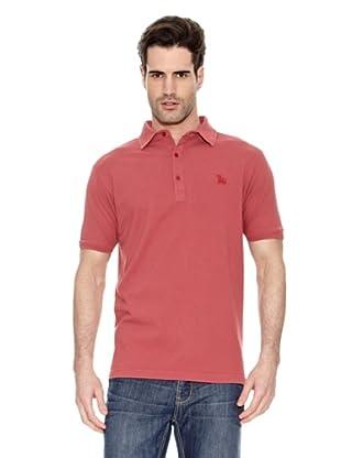 Toro Polo Cuello Camisa (Rojo)