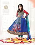 Stylelok Party Wear Embroidered Blue 60Gram Georgette Ravina Suit SL 300882