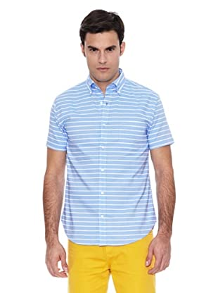 Pedro del Hierro Camisa Sport Rayas Horizontal (Azul)