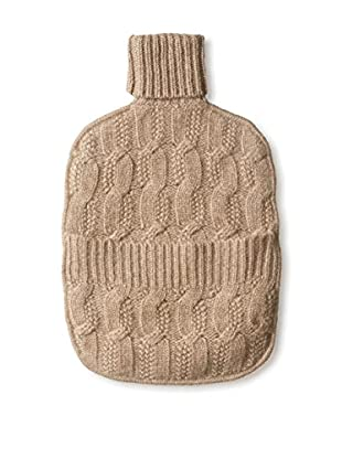 Sofia Cashmere Joy Cable Water Bottle Cover, Taupe