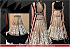 BFZ Designer Replica Cream Color Net & Velvet Fabric Party Wedding Wear Bridal Lehenga Choli