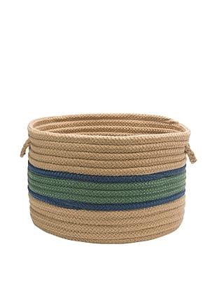 Colonial Mills Garden Band Round Basket (Myrtle Green/Jasmine)