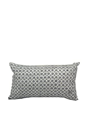 Joseph Abboud French Knot Flowers Pillow, Grey, 12