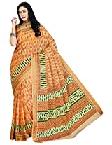 Sthri yellow office wear or casual wear cotton saree (STHASKDS103 , yellow)