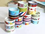 30 Rolls Paper Sticker Scrap Booking Adhesive Deco Cartoon Tape Scrapbooking