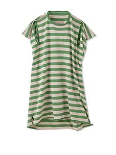 kicokids Girl's Sporty Stripe 2-D Kaftan (Grass/Potpourri)