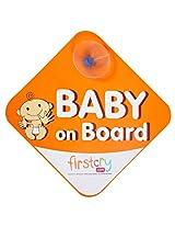 Fab N Funky - Baby On Board Orange