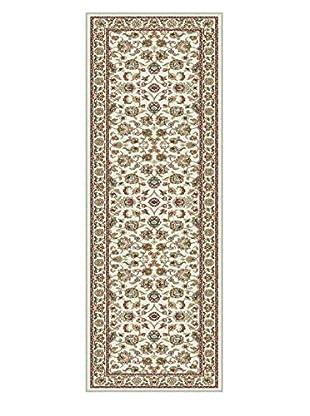 Universal Rugs Capri Traditional Runner, Ivory, 2' x 8'
