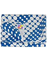 Bey Bee Blue Circle Baby Bed Protector Sheet, Small, Printed