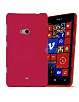 Wow Imagine Rubberised Hard Case Back Cover for NOKIA LUMIA 625 - HOT PINK