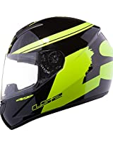 LS2 FF351 Fluo Full Face Helmet with Mercury Visor (Yellow, L)