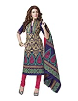 Suhanee Womens Cotton Unstitched Dress Material (Suhanee`S Exclusive Snehaa 1052 _Multi-Coloured)