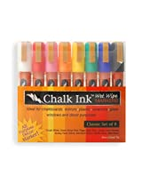 Chalk Ink 6mm Classic Wet Wipe Markers (8-Pack)