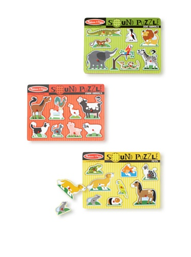 Melissa & Doug  Animals Sound Puzzle Set