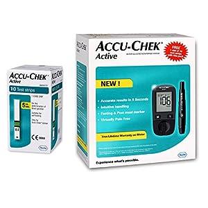 Accu-Chek Active Glucometer,  10 Strips