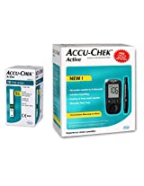 Accu-Chek Active Glucometer,  10 Strips