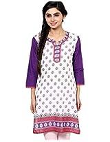 Jaipur Kurti Women's Cotton (Jk2174-S _White _Small)