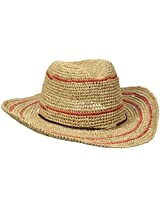 Callanan Women's Striped Raffia Western Hat, Natural, One Size