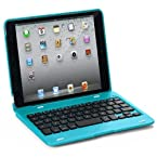 FlyStone Clamshell Laptop Style Bluetooth Keyboard Case for Apple iPad mini / iPad 7.9 inch. Turn Your Tablet Into a 7 Laptop Style. (iPad mini Blue)