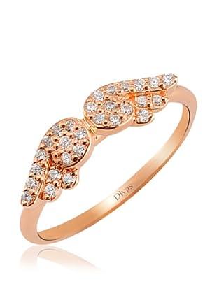 Divas Diamond Anillo Alas de Ángel Piedras (Oro)