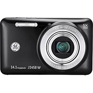 General Imaging Digital Camera with 14MP, 5X Optical Zoom, 2.7-Inch LCD with Auto Brightness and 28mm Wide Angle Lens (Black) J1458W-BK