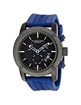 Burberry Sport Chronograph Grey Dial Blue Rubber Men'S Watch - Bur7714