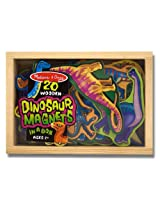 Dinosaurs Wooden 20 Magnets-in-a-Box Gift Set + FREE Melissa & Doug Scratch Art Mini-Pad Bundle [047