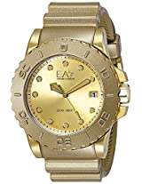 Emporio Armani Wave Analog Gold Dial Men's Watch - AR6084