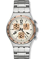 Swatch Analog White Dial Men's Watch - YCS522G