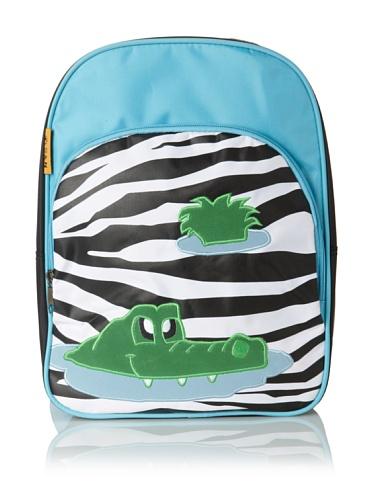 D&N Kids Croc Zebra Backpack