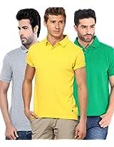 Concepts Men's Casual Shirt (TSHT_C3_GRYWGY_Multi_44)