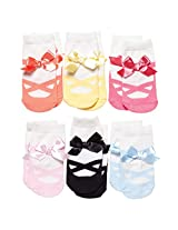 Elegant Baby Baby-Girls Newborn Non Slip 6 Pairs Of Infant Socks - Ballet