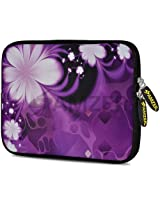 Amzer 7.75-Inch Designer Neoprene Sleeve Case Cover Pouch for Tablet, eBook and Netbook - Purple Contessa (AMZ5104077)