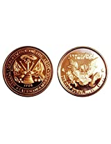 1 - 1 Ounce Army Tribute Copper Round Collection No Grade