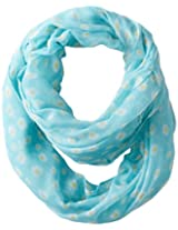 D&Y Women's Small Daisy Print Loop Scarf