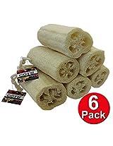 Cotu (R) Super Savings 6 Pcs Of Natural Loofahs Exfoliating Bath Sponge (5 Inch In Length)