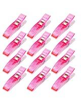 Imported Plastic Clips Clamps for DIY Patchwork Quilting Binding Sewing 24PCS Pink