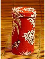 "The India Craft House Tin Pattachitra Art Cookie Box - 6"" x 3"""