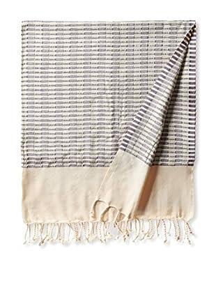 Nomadic Thread Turkish Towel Chic, Natural/Purple